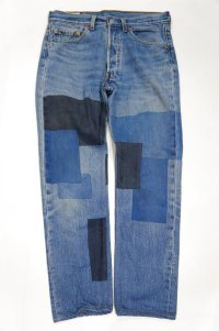 Yoused Play vintage Remake spray art denim pants ankle length
