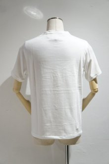 他の写真1: Yoused Play vintage Patchwork Border Tee(White×Navy)