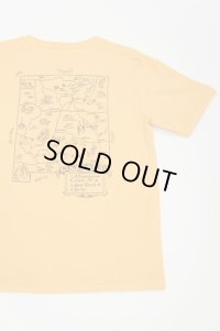 "CAL O LINE ""GHOST RANCH"" MAP T-SHIRT(Apricot)"