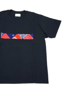 Yoused Front Patchwork Tee(Black)