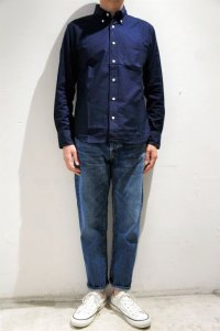 MANUAL ALPHABET SUPIMA PREMIUM OX BASIC B.D. SHIRT / Suitable Fit(DK.NAVY)