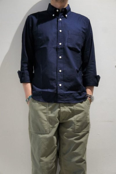 画像2: MANUAL ALPHABET SUPIMA PREMIUM OX BASIC B.D. SHIRT / Suitable Fit(DK.NAVY)