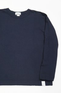 BETTER MID WEIGHT CREW NECK L/S T-SHIRT(NAVY)