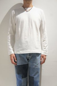 BETTER MID WEIGHT CREW NECK L/S T-SHIRT(OFF WHITE)