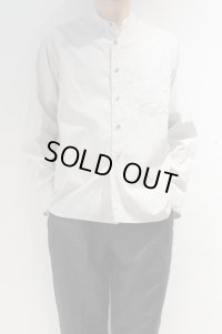 STILL BY HAND END ON END BAND COLLAR SHIRT(LIGHT GREY)