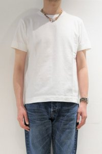 BETTER MID WEIGHT CREW NECK S/S T-SHIRT(OFF WHITE)