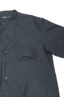 他の写真2: LOLO TYPEWRITERCLOTH STITCHLESS STAND COLLAR SHIRT(BLACK)