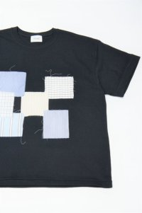 Yoused Loose Patchwork Tee(Black)