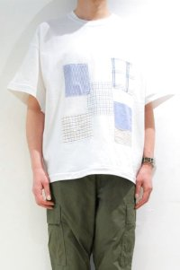 Yoused Loose Patchwork Tee(White)