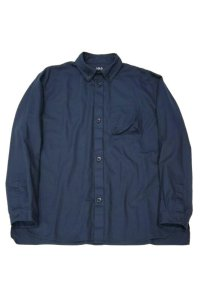 LOLO OX STITCHLESS B.D. SHIRT(NAVY)