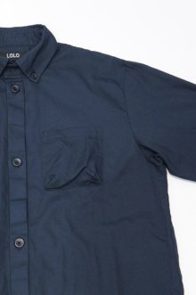 他の写真2: LOLO OX STITCHLESS B.D. SHIRT(NAVY)