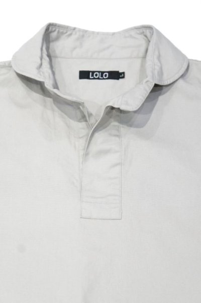 画像2: LOLO OX ROUND COLLAR PULL OVER SHIRT(GRAY)