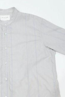 他の写真2: STILL BY HAND STRIPE BAND COLLAR SHIRT(GREY/BLUE)