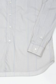 他の写真3: STILL BY HAND STRIPE BAND COLLAR SHIRT(GREY/BLUE)