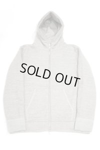 STILL BY HAND ZIP UP SWEAT PARKA(HEATHER GREY)