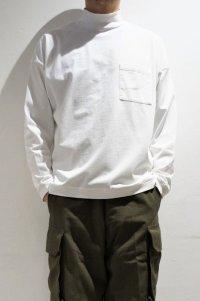 STILL BY HAND HIGH NECK T-SHIRT(WHITE)